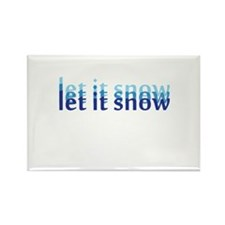 Let it Snow Rectangle Magnet