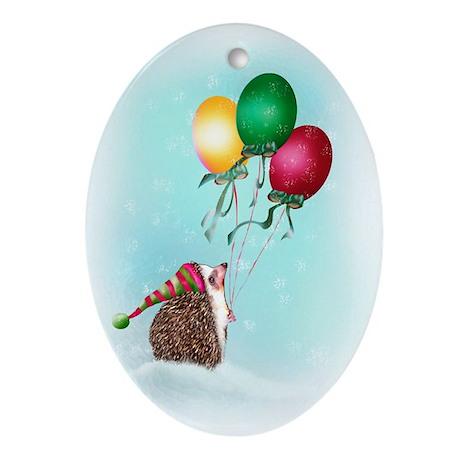 Christmas Balloons Ornament (Oval)
