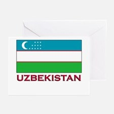 Uzbekistan Flag Stuff Greeting Cards (Pk of 10