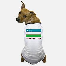 Uzbekistan Flag Stuff Dog T-Shirt