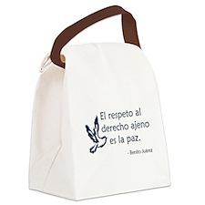 El respeto Canvas Lunch Bag