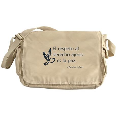 El respeto Messenger Bag
