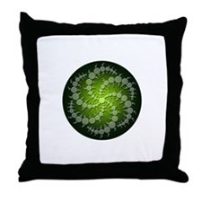 Green Rasa Throw Pillow