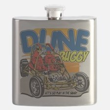 Dune Buggy Let's Go Play in the Sand Flask