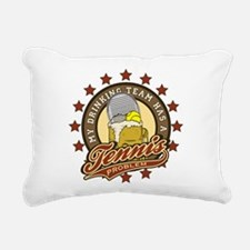BaseballDrinking.png Rectangular Canvas Pillow