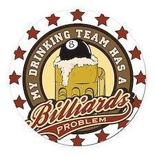 BaseballDrinking.png Round Car Magnet