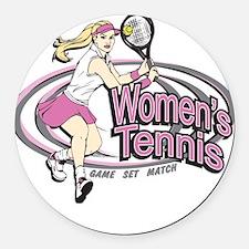 Women's Tennis Round Car Magnet