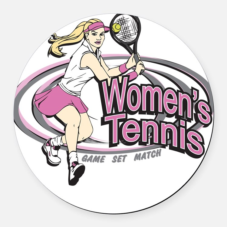 Women's Tennis Round Car Magnet