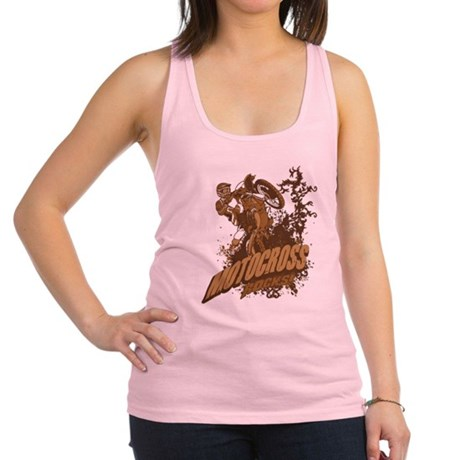 Motocross Rocks Racerback Tank Top