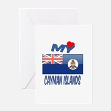My Love Cayman Islands Greeting Card