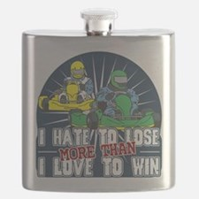 Hate to Lose Go Kart Flask