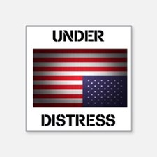 "Under Distress Square Sticker 3"" x 3"""