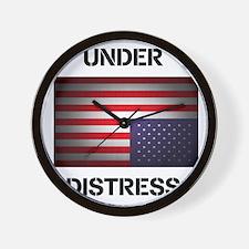 Under Distress Wall Clock