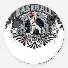 Baseball My Sport Round Car Magnet