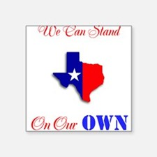 """On Our Own Square Sticker 3"""" x 3"""""""