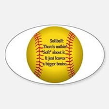 """Girls Fastpitch Softball"" Sticker (Oval)"