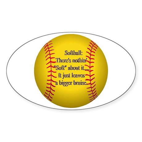 """Girls Fastpitch Softball"" Sticker (Oval 10 pk)"