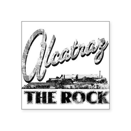 """Alcatraz The Rock Square Sticker 3"""" x 3"""""""