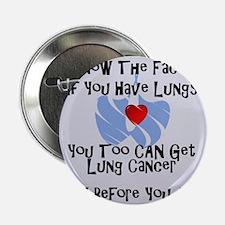 """lung cancer awareness 2.25"""" Button"""