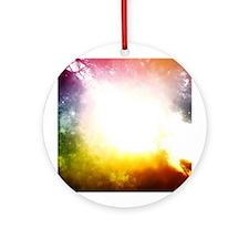 Heaven or My Window Ornament (Round)