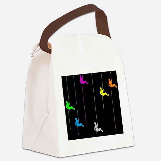 climbing rappel onedcolorun.png Canvas Lunch Bag
