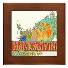 Thanksgiving Cornucopia Framed Tile