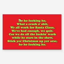 Funny Crude Christmas Decal