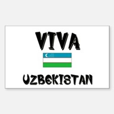 Viva Uzbekistan Rectangle Decal