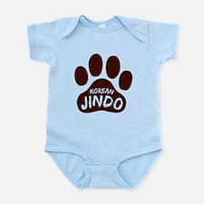 Korean Jindo Paw Print Infant Bodysuit