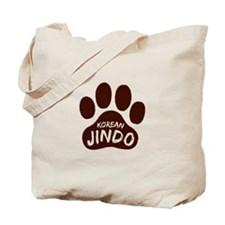 Korean Jindo Paw Print Tote Bag