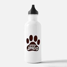 Korean Jindo Paw Print Water Bottle