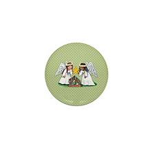 Christmas Angel Nativity Mini Button (10 pack)