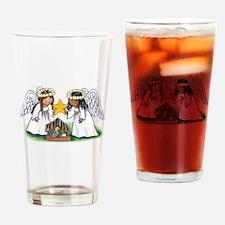 Christmas Angel Nativity Drinking Glass