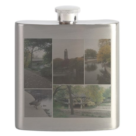 Naperville Riverwalk Flask
