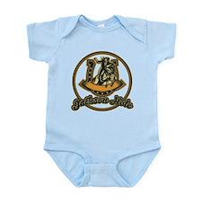 Jackson Hole Cowboy Green Infant Bodysuit