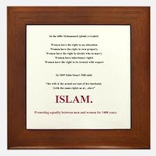 Islam. The Feminist Religion Framed Tile