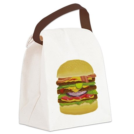 Cheeseburger king Canvas Lunch Bag