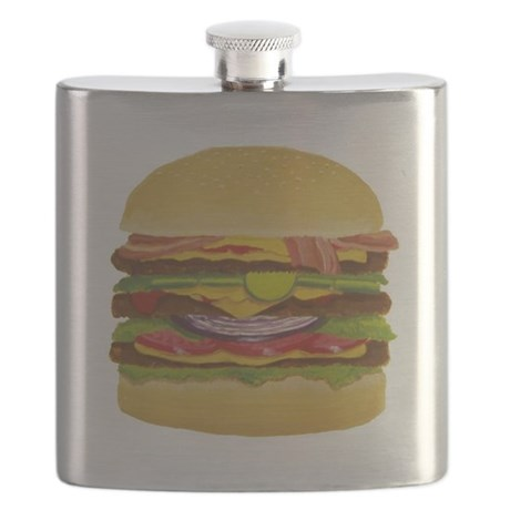 Cheeseburger king Flask