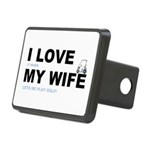 ILOVEMY WIFE.png Rectangular Hitch Cover