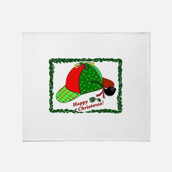 Happy Christmas Throw Blanket