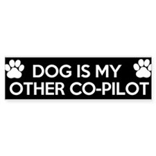 funny dog is my copilot Bumper Sticker