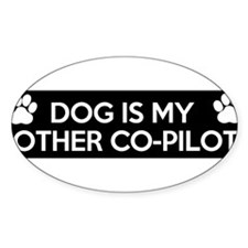funny dog is my copilot Decal