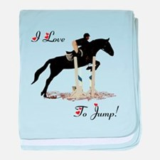I Love To Jump Horse baby blanket