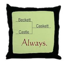 Beckett Castle Caskett Always Throw Pillow