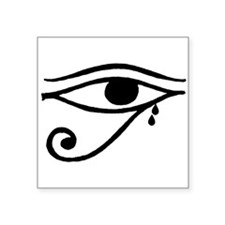 "Eye of Horus Tears Square Sticker 3"" x 3"""