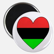 African American Flag Heart Black Border Magnet