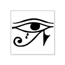 "Eye of Horus with Tears Square Sticker 3"" x 3"""