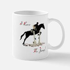 I Love To Jump Horse Mug