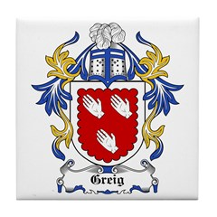 Greig Coat of Arms Tile Coaster