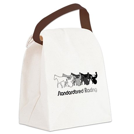 Racing Silhouette Canvas Lunch Bag